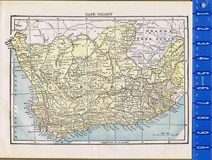 Cape Colony - Cape of Good Hope - Map Print -- 1907 | eBay