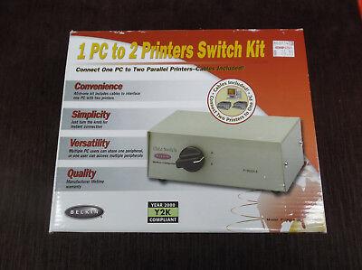 Belkin F1U125-KIT Bitronics-2-Port Parallel Switch Kit sealed Original
