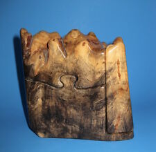 Hand crafted BUCKEYE BURL TREASURE PUZZLE TRINKET BOX by artisan DON WOOD 2002