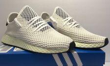 adidas Mens Size 10 Originals Deerupt Runner Athletic White Shoes CQ2629