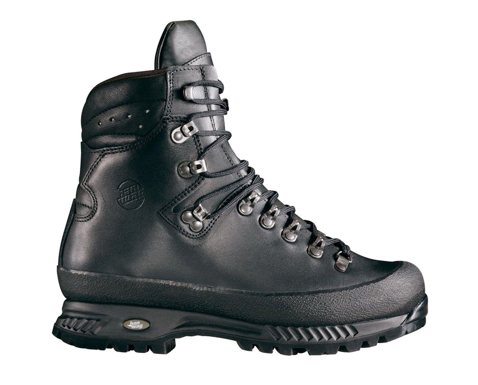 Hanwag Bergschuhe  Yukon Men Leder Größe 7,5 - 41,5 black
