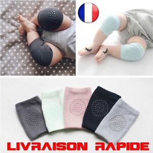 Paire-Genouilleres-Protection-Bebe-Jambiere-Ramper-Coude-Coussin-Enfant-Proteger