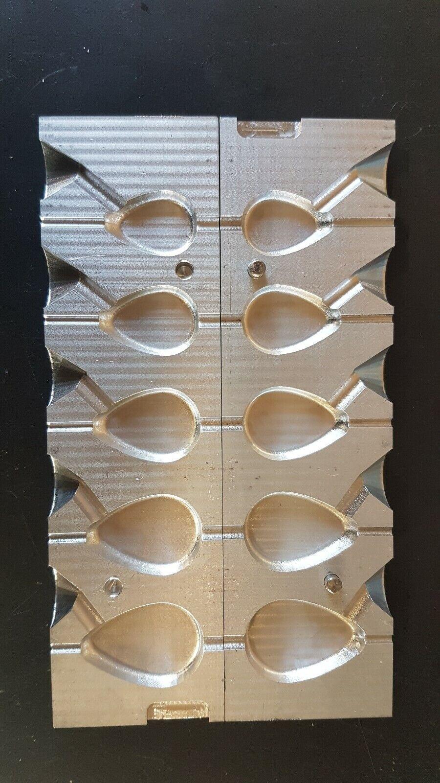 Fishing Lead Mould Flat  Pear Inline Mould 2oz 2.5oz 3oz 3.5oz 4oz  online sale
