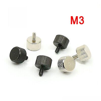M3 M5 Natürlich//Vernickelt Messing Rändelschrauben Hand Twist Schraube Bolzen