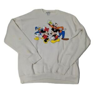 Walt-Disney-World-XL-Long-Sleeve-Sweater-Shirt-Mickey-Donald-Minnie-Goofy-2000s