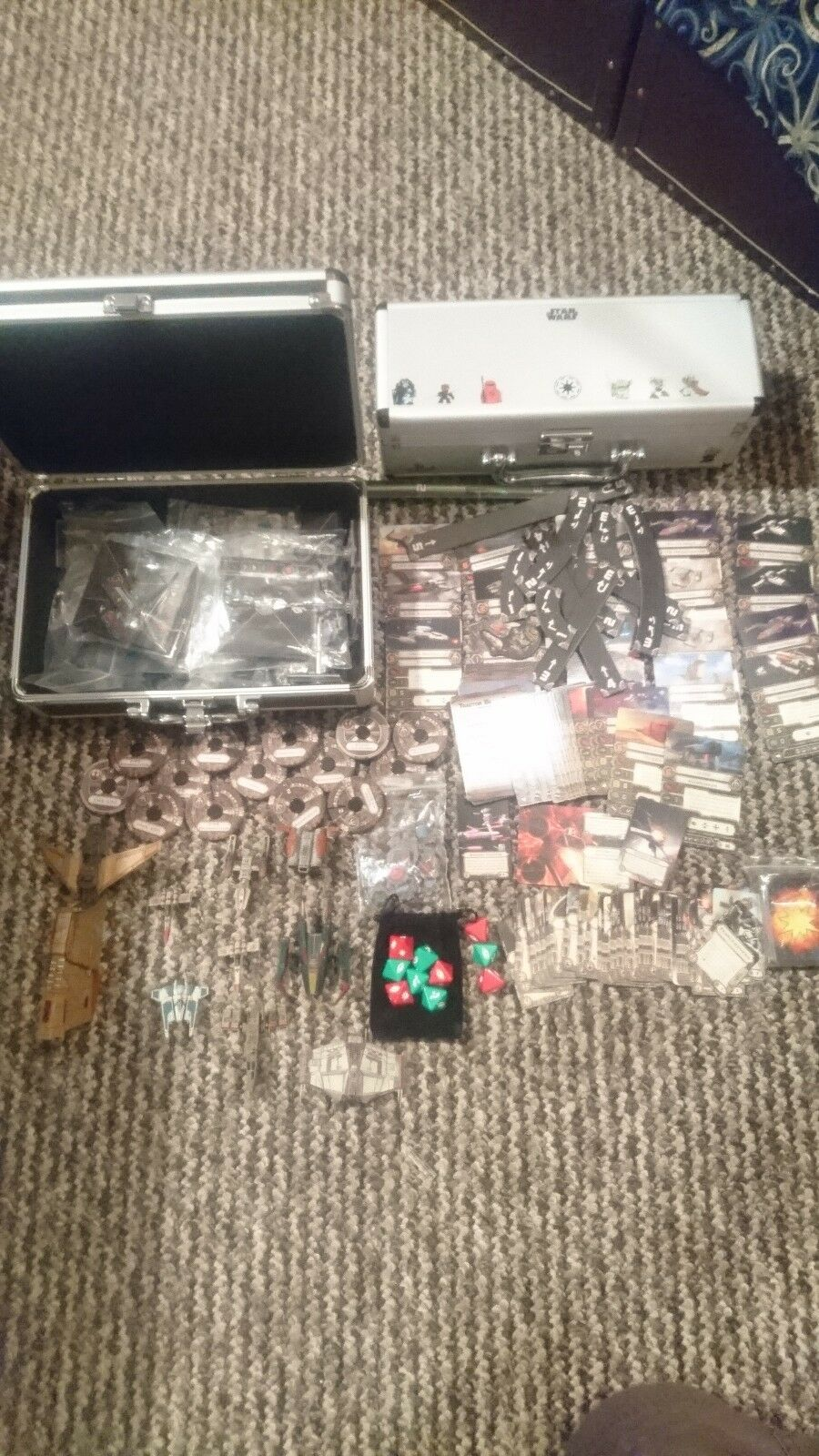 Star Wars X-wing Miniatures - Scum Fleet 9 ships, all components, and extra