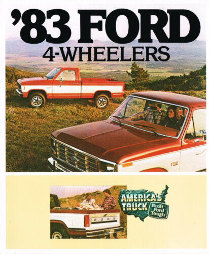 1983 Ford 4-WHEEL DRIVE Truck Brochure:PickUp,F-150,250,RANGER,Series,4x4,XLT,