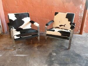 Details About GREAT 60u0027S PAIR CHROMED STEEL ARCHITECTURAL DESIGNER LOUNGE  CHAIRS