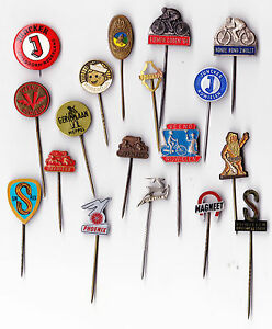 Vtg-Bicycle-Brand-Cycling-Round-pin-badges-1960s-Fiets-Cycle-Bike-Velo-Fahrrad