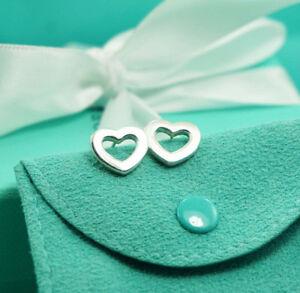 AUTHENTIC-Tiffany-amp-Co-Open-Heart-Earrings-340