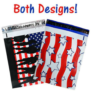 10x13-034-Military-Soldier-Patriotic-Flag-Poly-Mailers-Flat-Shipping-Envelope-Bags