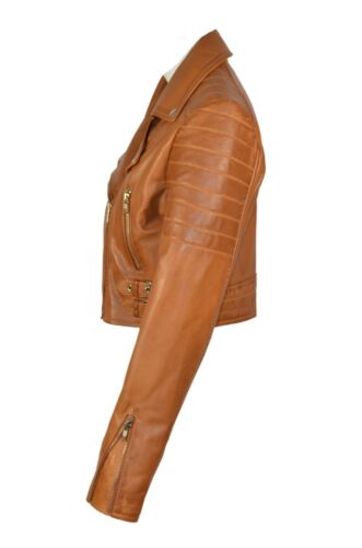 Real Tan Napa Deluxe Style Leather Soft Ladies Design New Jacket Casual Luxury qtI4wI1
