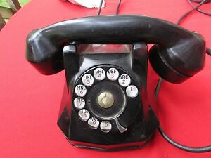 Monophone Automatic Electric Telephone Model AE40 Bakelite #N-4020 A1 PC7