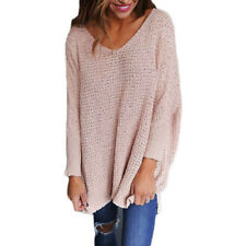 092f6a92513 item 3 Women s V Neck Long Sleeve Oversized Blouse Jumper Knitted Pullover Sweater  Tops -Women s V Neck Long Sleeve Oversized Blouse Jumper Knitted Pullover  ...