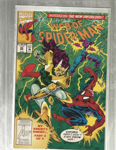 MOVIE!! Web of Spiderman 99   1ST APPEARANCE NIGHTWATCH!! EXCELLENT COPIES