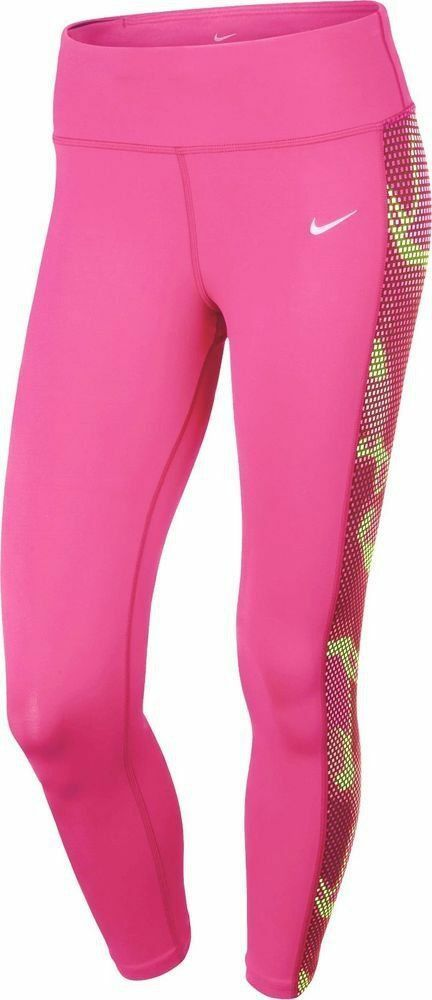 NWT M NIKE Women's Epic Lux Tight Fit Hyper Pink Multi-color Graphic Capri