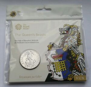 2019-Royal-Mint-The-Queen-039-s-Beast-of-Yale-Of-Beaufort-Clarence-5-BU-Coin-Pack