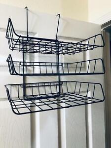 Vtg 3 Tier Hanging Wire Office Desk
