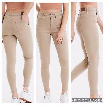 new appearance reasonable price professional website Women's American Eagle Khaki Tan Super High-Waisted Jegging Skinny Jeans 6  Short | eBay