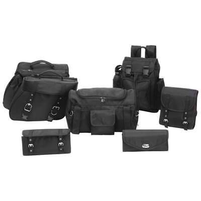 HEAVY DUTY PVC SADDLE BAG SET FOR SUZUKI INTRUDER 800 1400 1500-4Pc T//Over Style