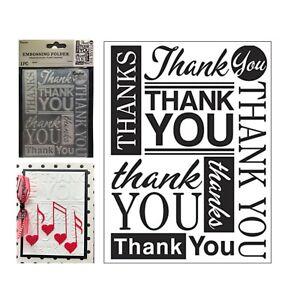 Darice 30041288 Thank You Fonts Embossing Folder 4.25 x 5.75