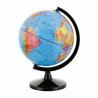 World Globe Decor Map Earth Ocean Desktop Geographical Blue 6 W/ Black Base