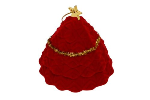 Novelty Christmas Tree Shaped Jewellery Ring Box Collection