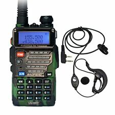 Baofeng UV-5RE Green Dual Band UHF/VHF FM Two Way Radio + UV-5R E Earpiece US