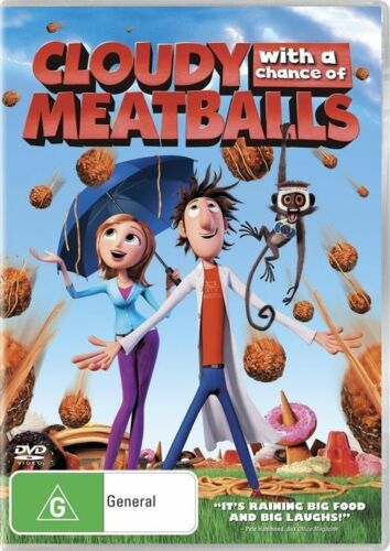 1 of 1 - Cloudy With A Chance Of Meatballs (DVD, 2010) R4 PAL NEW FREE POST