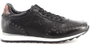 Sneakers Details L4144137 In Schuhe Martina Nero Made La Jersey Leder Damen Zu Italy New rthdsCQ