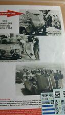 Decals 1/24 réf 959 Renault 8 Gordini Vinatier Maroc 1968