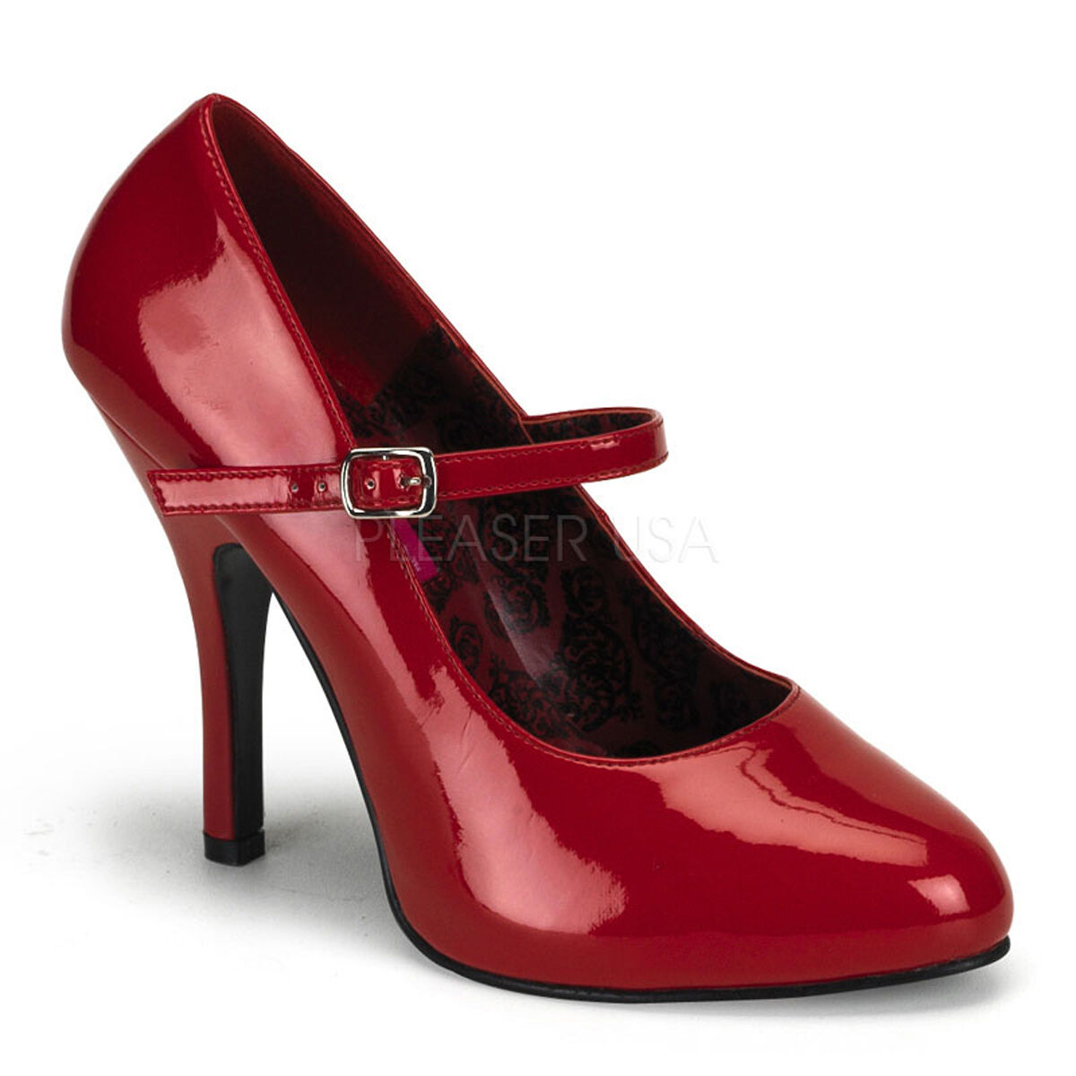 BORDELLO By Pleaser - Tempt-35 Sexy High Heel Low Platform Mary Jane Court Schuhes