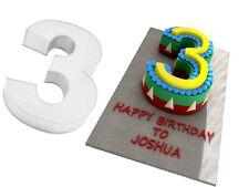 "14"" 3 NUMBER BIRTHDAY ANIVERSARY CAKE TIN 3"" DEEP"