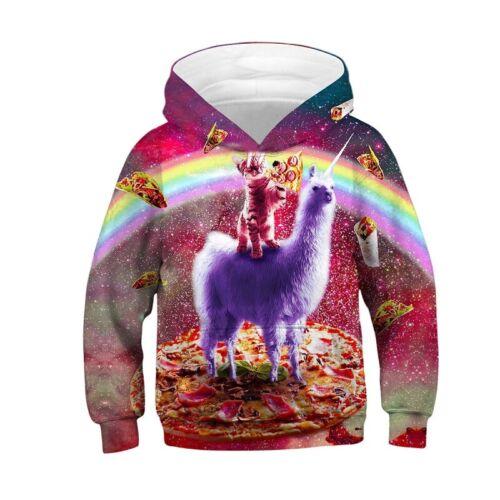 Hot Kids Boys 3D Animal Funny Printed Hoodie Pullover Sweatshirt Jacket Coat Top