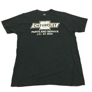 GM-Chevrolet-Parti-e-Servizio-Camicia-Uomo-Taglia-L-Large-Nero-Adulto-Tee-Bowtie