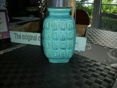 Bay Keramik Vase 60iger Jahre Bodo Mans Modell 938-20 türkis matte Glasur 20 cm