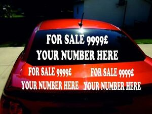 for sale signs car window