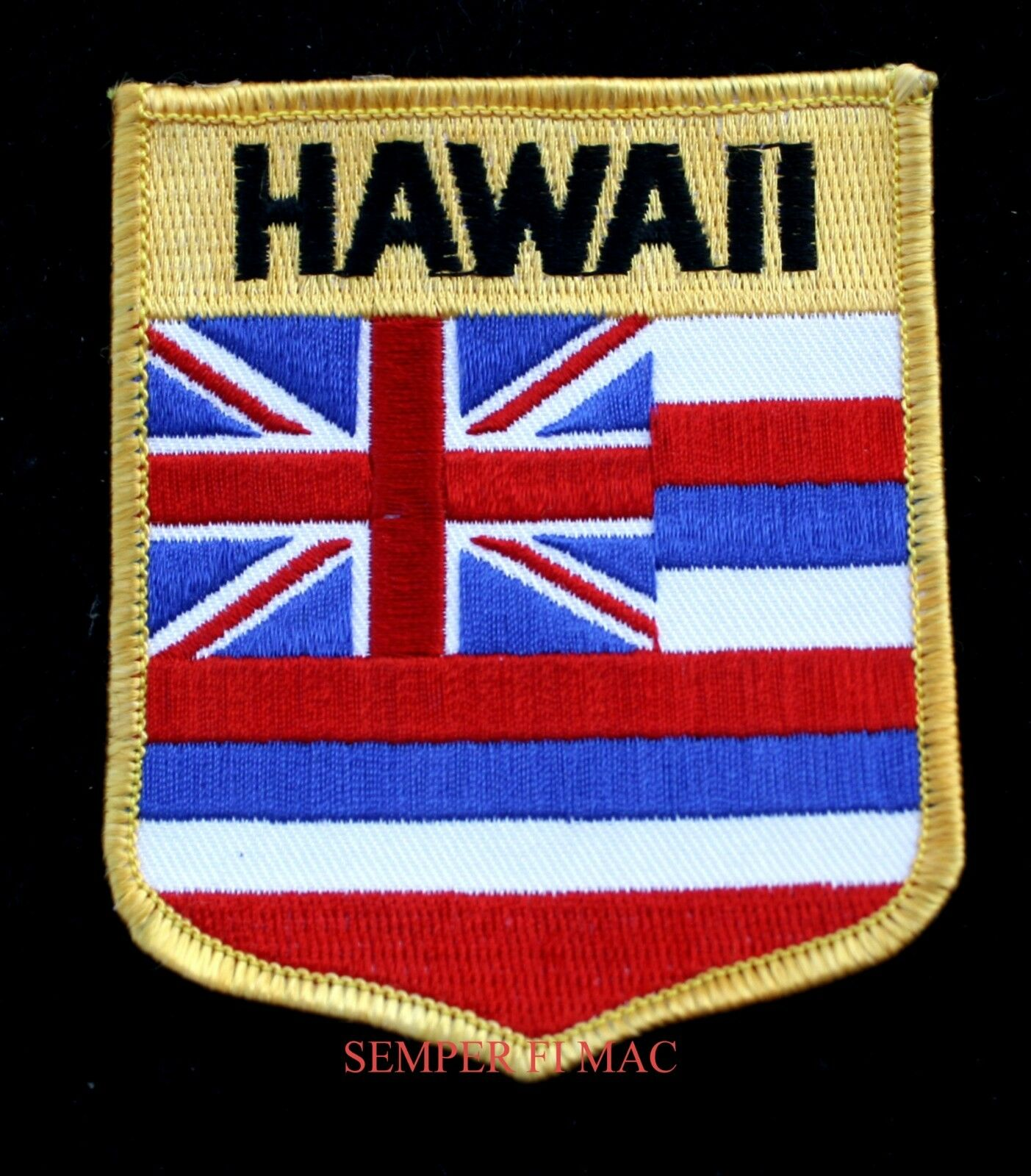 Hawaii state flag hat vest patch hi shield usa pearl