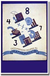 Occupations-Related-to-Math-Vintage-Print-POSTER