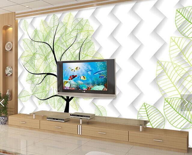 3D Graffiti Green Leaves 657 Paper Wall Print Wall Decal Wall Deco Indoor Murals