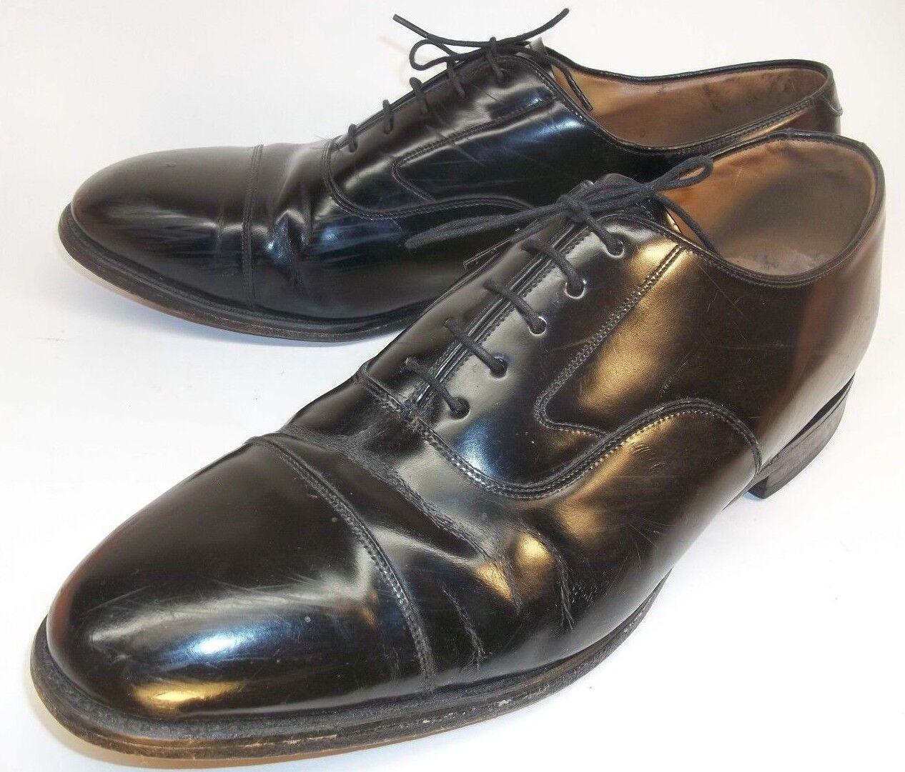 Johnston Murphy Mens shoes Oxford US 12 D Black Leather Lace Cap Toe Mexico 5605