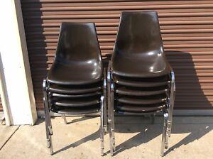 Merveilleux Details About 11 Same Vintage Krueger Fiberglass / Chrome Chairs   Good