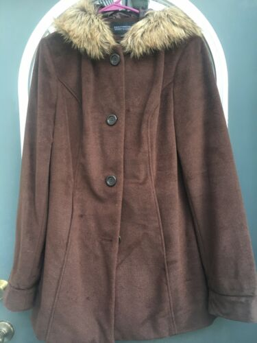 donnybrook Womens Large Coat Brown Plush - image 1
