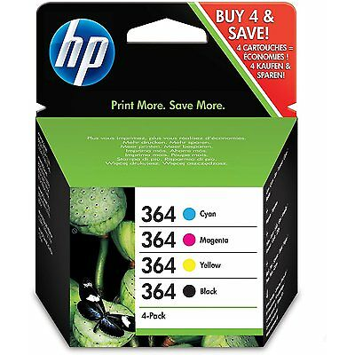 Genuine 4 Colour HP 364 Ink Cartridge Multipack For 5520 (N9J73AE) £15 CASHBACK*