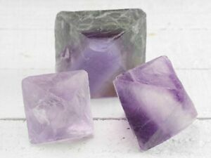 FLUORITE-Octahedron-Purple-Green-Natural-Raw-Crystal-Healing-Stone-E0939