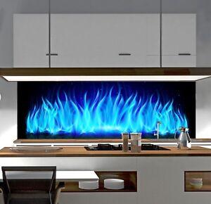 Spritzschutz Sp204 Blue Flame Herd Kuchenruckwand Fliesenspiegel
