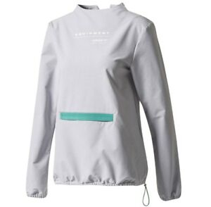Details about Adidas Eqt Zip Sweater Womens BR5165 Womens Size L GREY