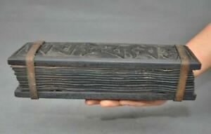 10-034-Rare-Tibetan-Buddhism-Temple-Old-Wood-Xuan-paper-Scripture-Diamond-Sutra-Book