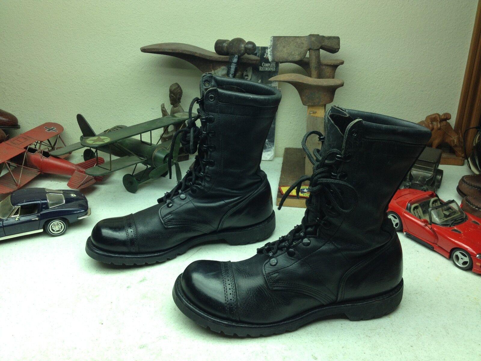 Corcoran militar EE. UU. Negro Cuero Rojo Etiqueta ingeniero jefe Ejército botas De Salto 11.5 D