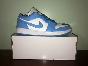 Nike Air Jordan 1 Low Unc University Blue Size 10w 8 5 Men